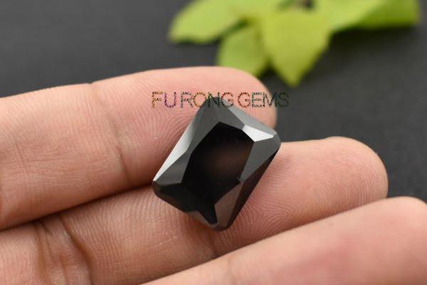 Cubic-Zirconia-Black-Color-Octagon-shape-Gemstone-China-Factory