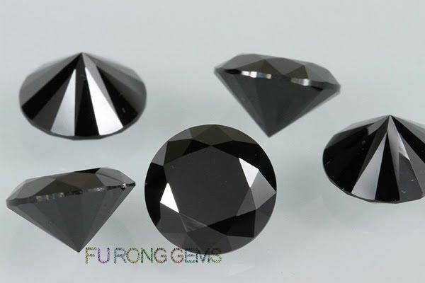 Cubic-Zirconia-Black-Color-Round-shape-Stones-China-wholesale