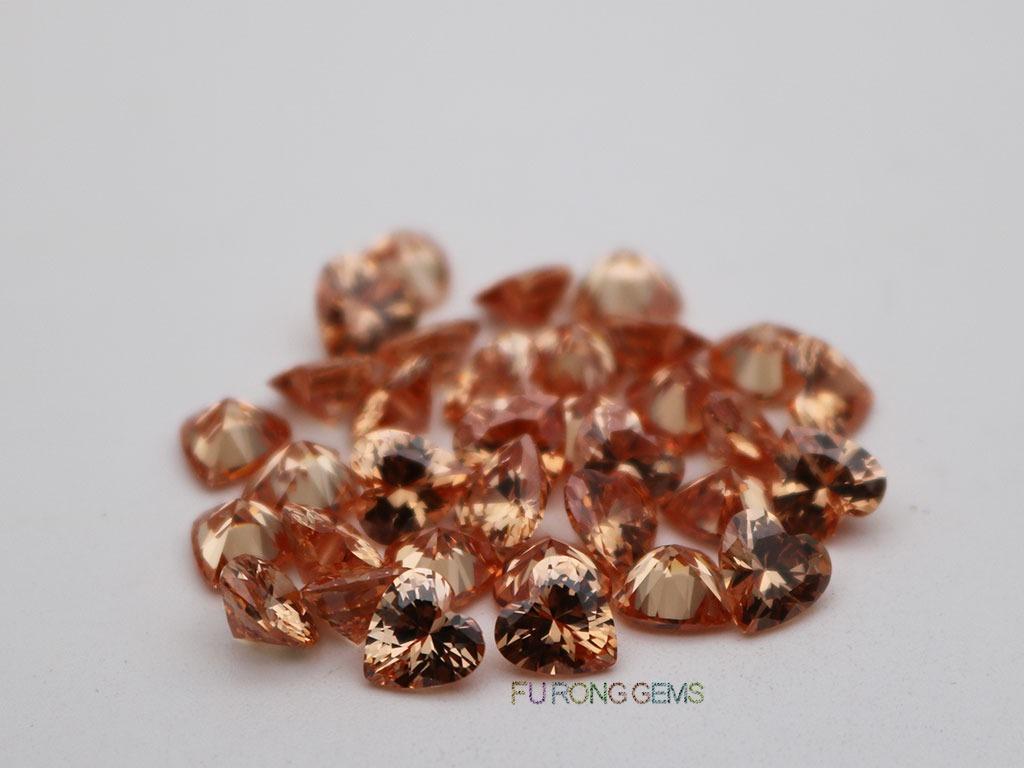 Cubic-Zirconia-Champagne-Color-Heart-6x6mm-Stones-wholesale