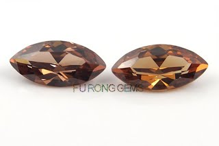 Cubic-Zirconia-Champagne-Color-Marquise-shape-Gems-China-wholesale