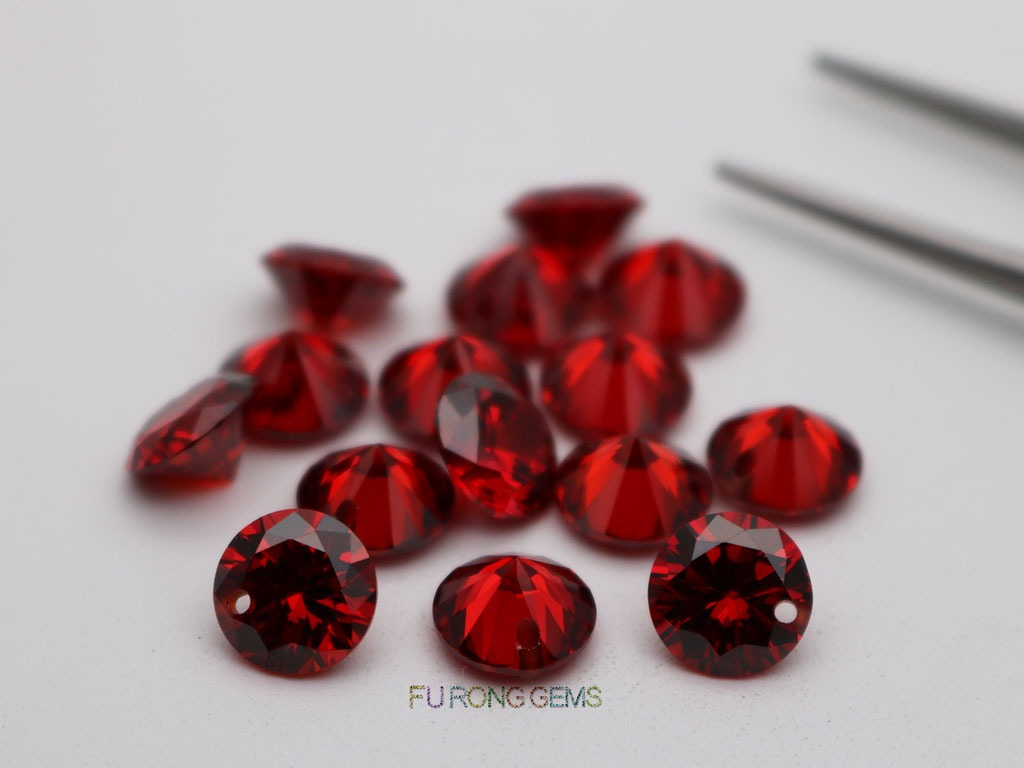 Cubic-Zirconia-Garnet-Red-Round-Diamond-faceted-cut-8mm-drilled-hole-bead-Gemstones-suppliers
