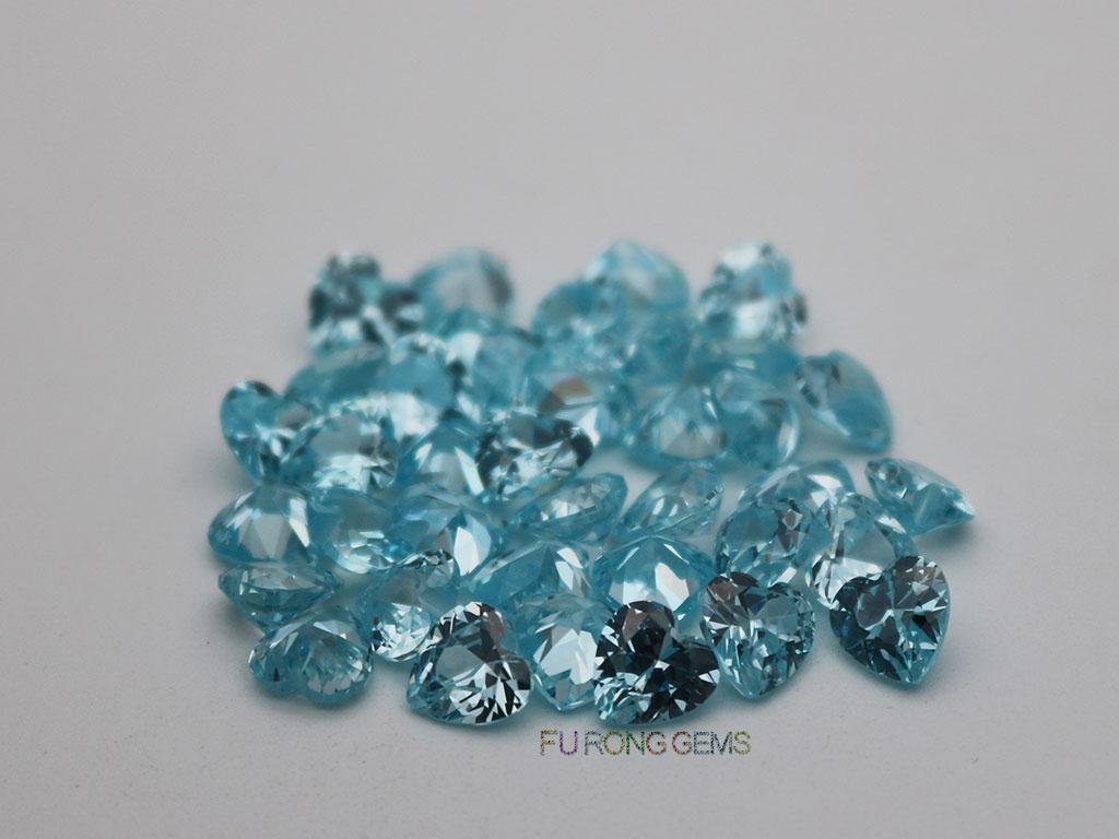 Cubic-Zirconia-Light-Aqua-Blue-Color-Heart-Shape-6x6mm-Stones-Suppliers