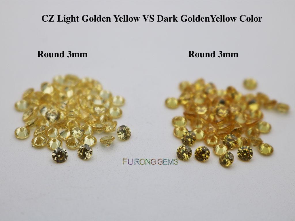 Cubic-Zirconia-Light-Golden-Yellow-VS-Dark-Golden-Yellow-Color-Gemstones