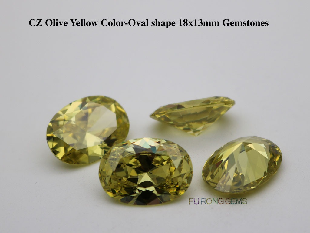 Cubic-Zirconia-Olive-Yellow-Oval-Shape-18x13mm-Gemstones-suppliers