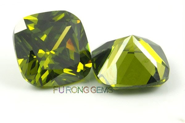 Cubic-Zirconia-Peridot-Green-Color-Cushion-Shape-Gemstones