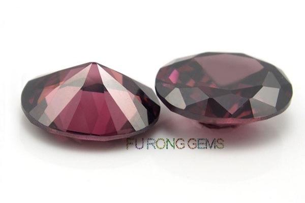 Cubic-Zirconia-Rhodolite-Smoky-Color-Oval-Shape-Gemstones