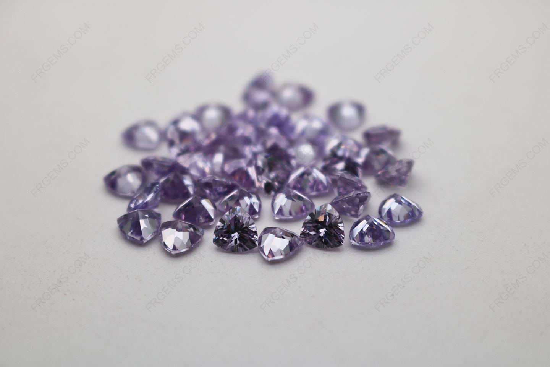 Cubic Zirconia Lavender Trillion Shape Diamond faceted cut 5x5mm stones CZ08 IMG_4886