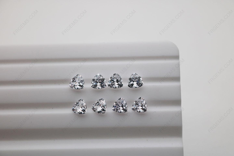 Cubic Zirconia White Trillion Shape Diamond faceted cut 5x5mm stones CZ01 IMG_4894
