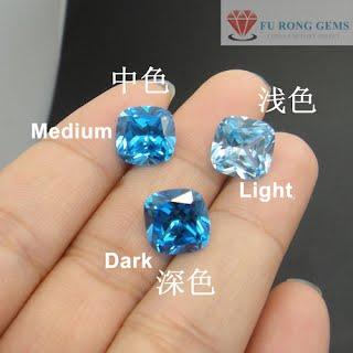 Cuchion-Shape-Aqua-Blue-Color-CZ-Gemstones-China-wholesale-Supplier