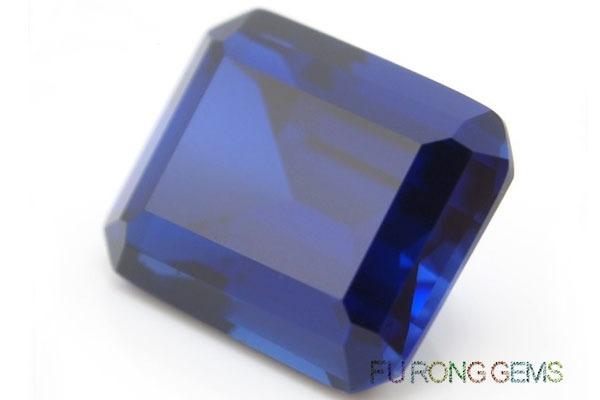 Emerald-Cut-Lab-Blue-Sapphire-Gemstones