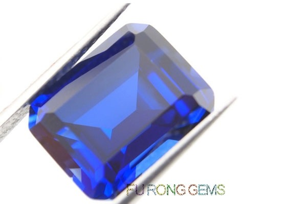 Emerald-Cut-Synthetic-Sapphire-Blue-Colored-Gemstones