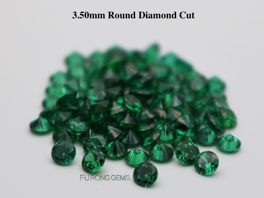 Emerald-Green-Loose-CZ-Round-Diamond-cut-3.5mm-gemstones-for-sale