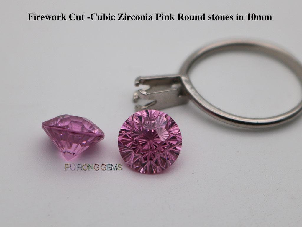 Firework-Cut-Pink-Color-CZ-stones-wholesale