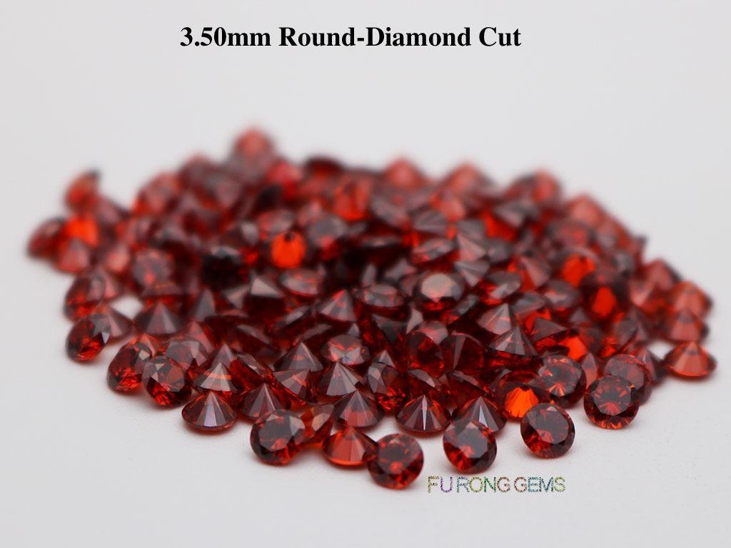 Garnet-Red-Cubic-Zirconia-Round-Diamond-Cut-3.5mm-Gemstone-wholesale