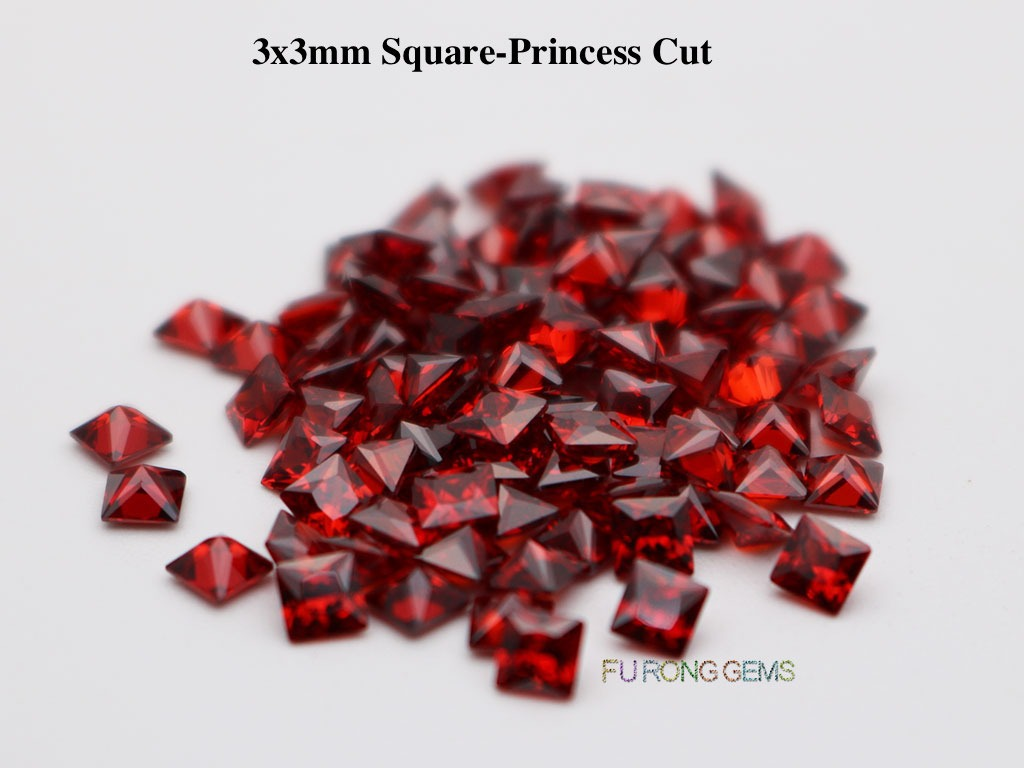 Garnet-Red-Cubic-Zirconia-Square-Princess-3x3mm-Gemstone-for-sale