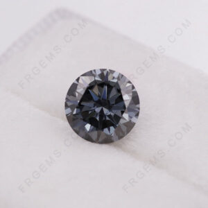 Gray-Color-Moissanite-Round-shape-gemstones-manufacturer-China