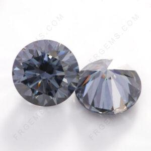 Gray-Color-Moissanite-Round-shape-gemstones-wholesale-China