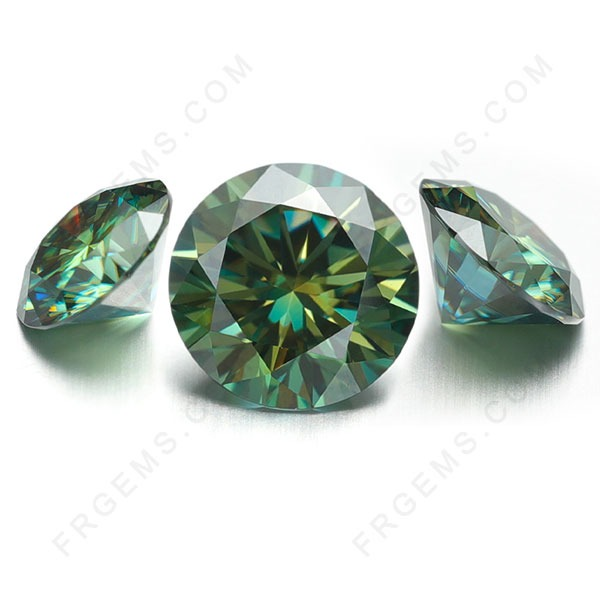 Green-Color-Moissanite-Round-gemstones-Factory-China