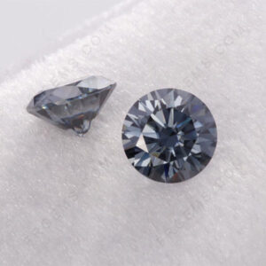 Grey-Color-Moissanite-Round-faceted-cut-gemstones-Suppliers-China
