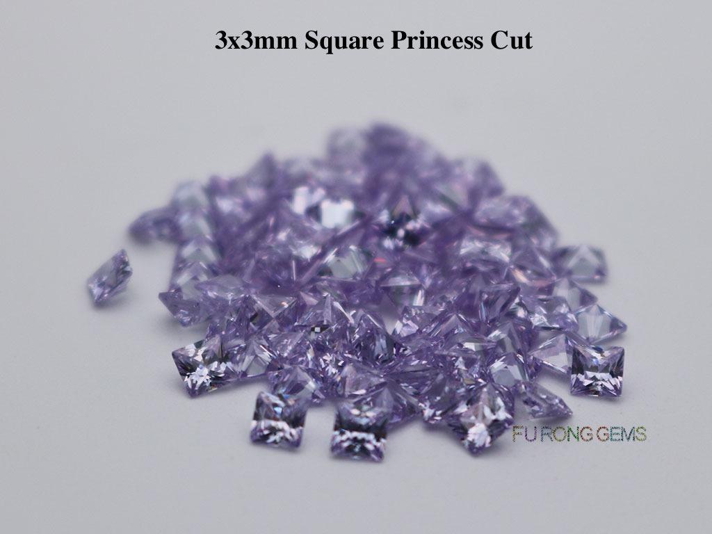 Lavender-Color-Cubic-Zirconia-Square-Princess-3x3mm-Gemstone-for-sale