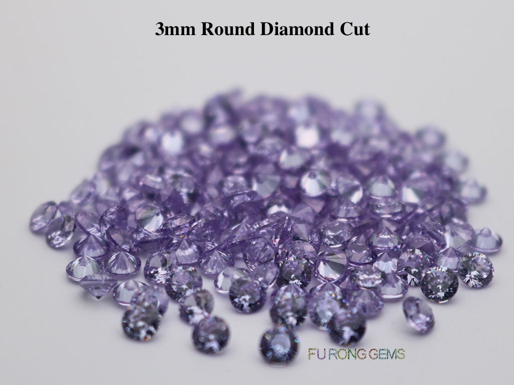 Lavender-Cubic-Zirconia-Round-Diamond-Cut-3.5mm-Gemstone-wholesale