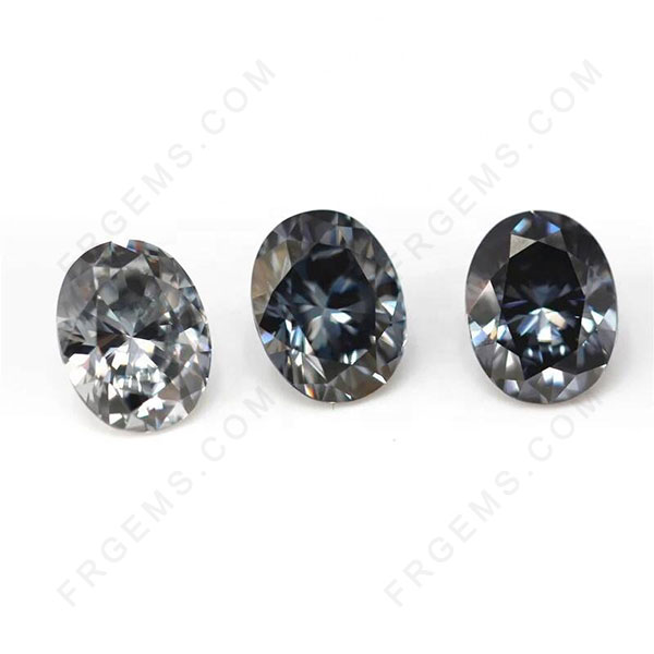 Loose Moissanite Gray Color Round and Grey Color Moissanite Gemstones wholesale from China