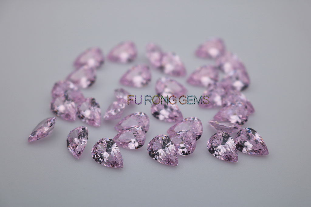 Light-Pink-Cubic-Zirconia-Pear-Shape-Best-Quality-Gemstones-for-sell-China