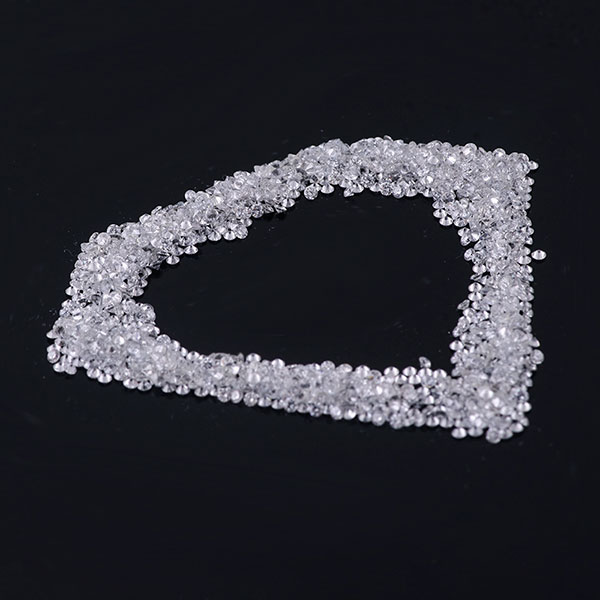 Loose Lab Grown Diamond DEF Color Melee small round Shape Diamond Faceted Cut Gemstones wholesale