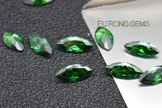 Marquise-Shape-CZ-Emerald-Green-Colored-Loose-gemstones-Wholesale