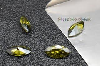 Marquise-Shape-Cubic-Zirconia-Peridot-Colored-gemstones-Wholesale