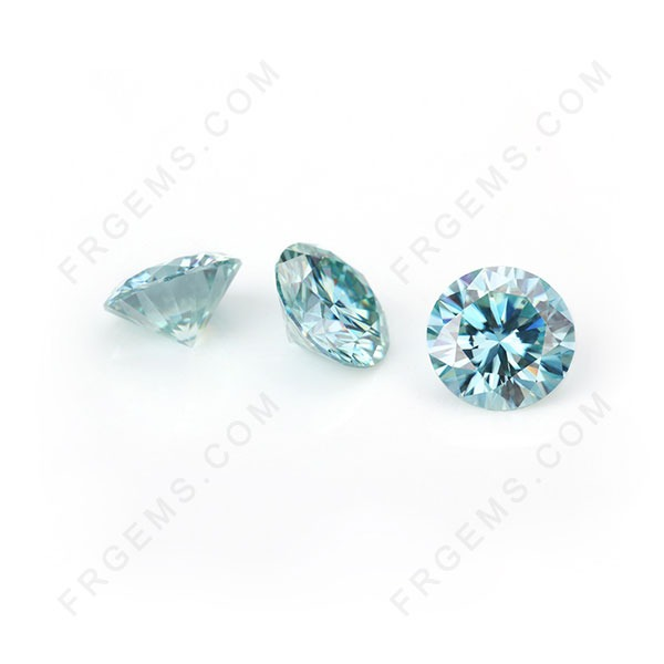Loose Moissanite Blue Color Round Faceted Brilliant cut Gemstones wholesale from China