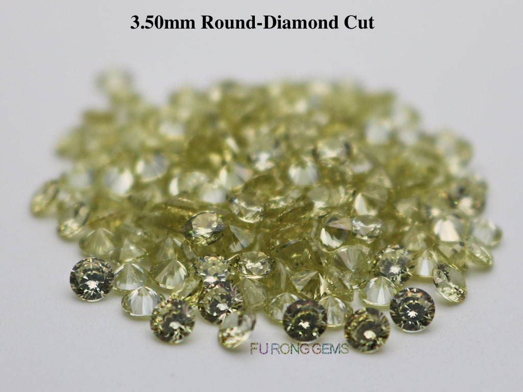Olive-Yellow-Cubic-Zirconia-Round-Diamond-Cut-3.5mm-Gemstone-wholesale