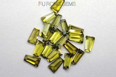 Olive-Yellow-Cubic-Zirconia-Trapezoid-Shape-Gemstones