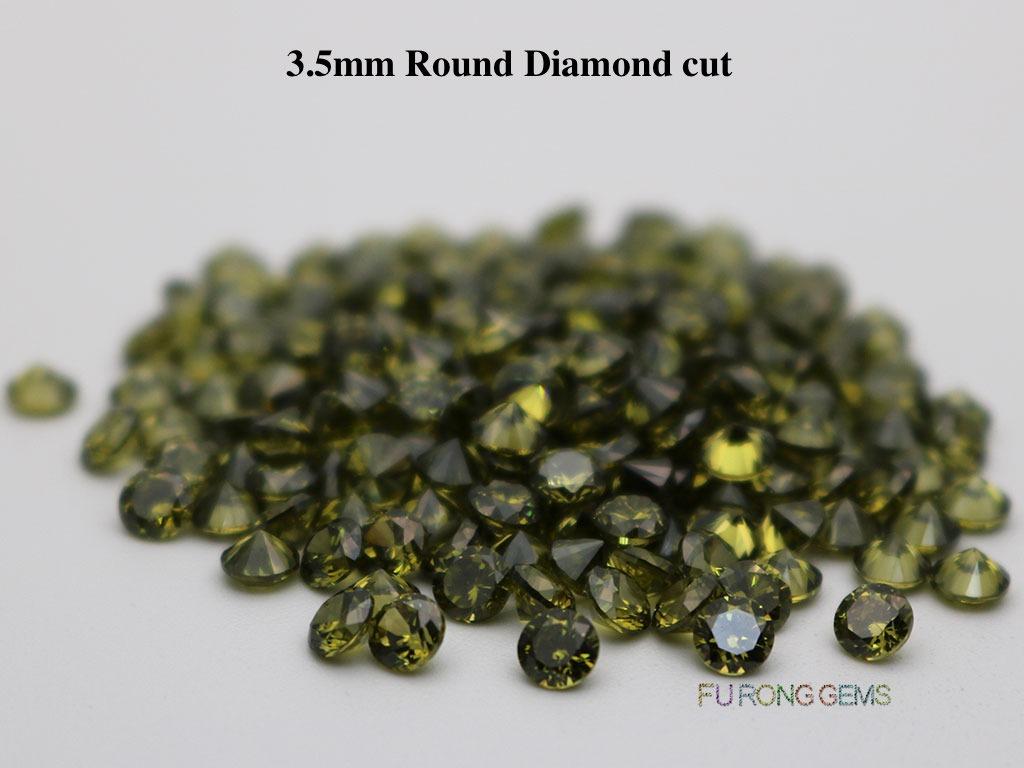 Peridot-Color-Loose-Cubic-Zirconia-Round-Diamond-Cut-3.5mm-Gemstone-wholesale