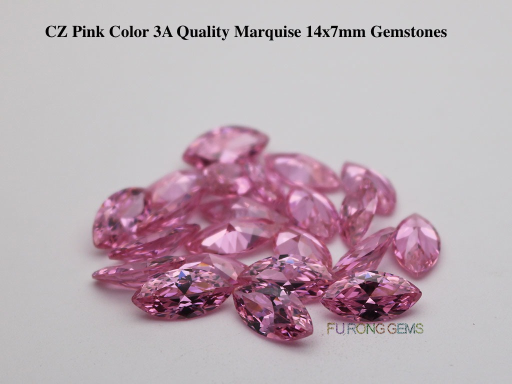 Pink-Color-CZ-3A-Quality-Marquise-shape-14x7mm-Gemstones