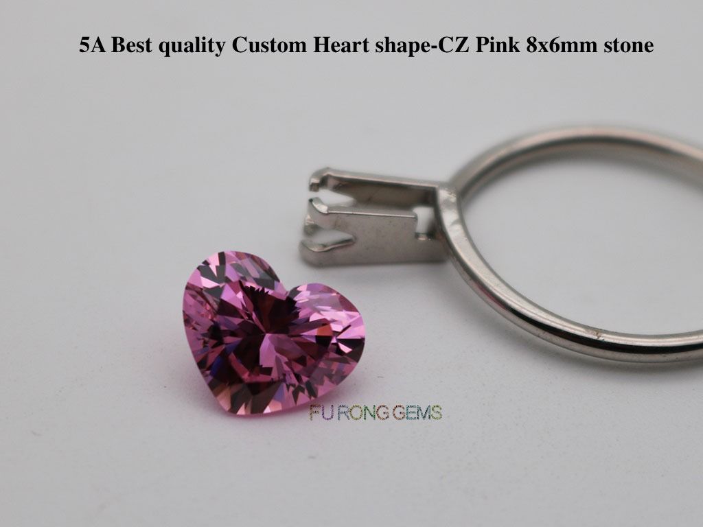 Pink-Color-Cubic-Zirconia-5A-Best-Quality-Heart-Shape-Gemstones-wholesale