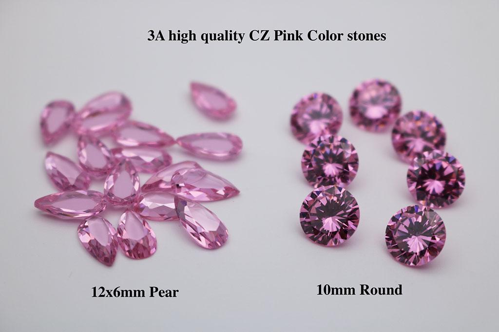 Pink-Color-Cubic-Zirconia-Medium-Shade-3A-Quality-Gemstones