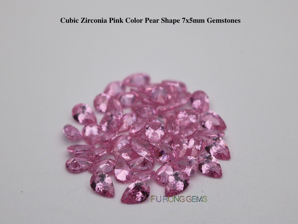 Pink-Color-Cubic-Zirconia-Pear-Shape-Gemstones-Suppliers