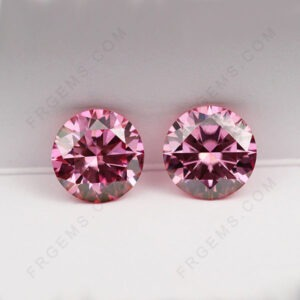 Pink-Color-Moissanite-Round-Faceted-Cut-Gemstones-Suppliers-China