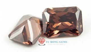 Radiant-Cut-Coffee-Brown-Color-CZ-Gemstones-China-Suppliers