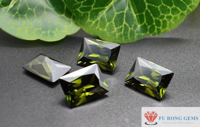 Retangle-Shape-Peridot-Cubic-Zirconia-Gemstones-China-wholesale-Suppliers