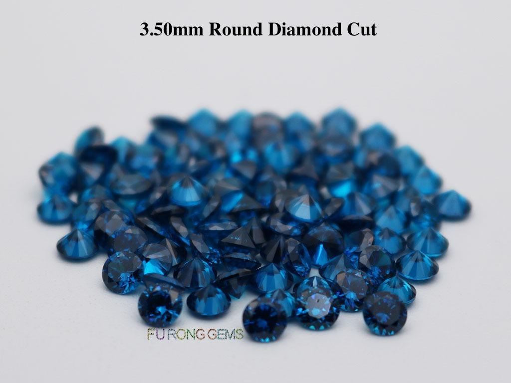 Swiss-Blue-Loose-CZ-Round-Diamond-cut-3.5mm-gemstones-for-sale