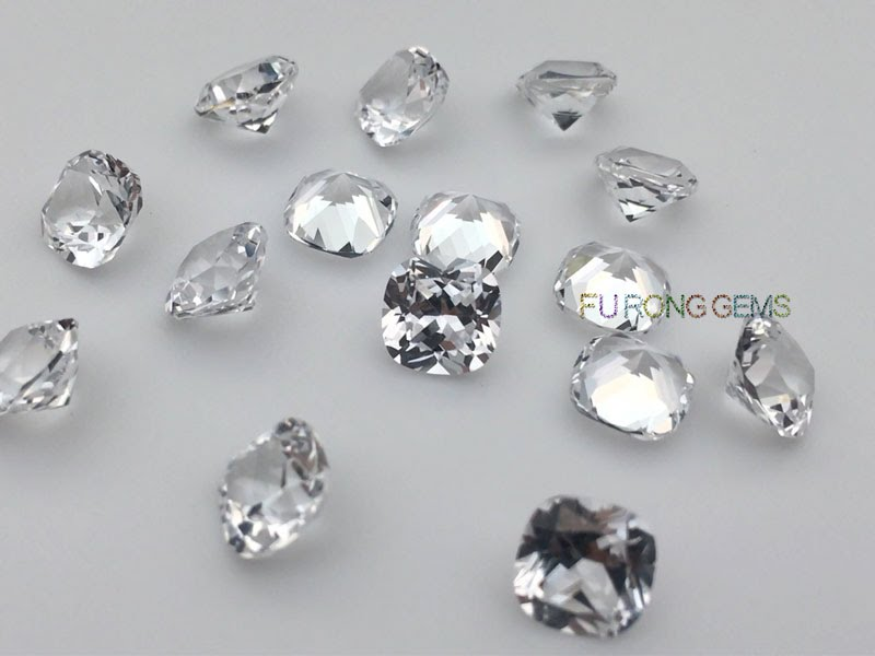 Synthetic-White-Sapphire-Cushion-Shape-Gemstones-suppliers-wholesale