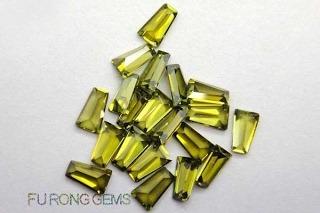Tapered-Baguette-Cut-CZ-Peridot-Colored-Gemstones