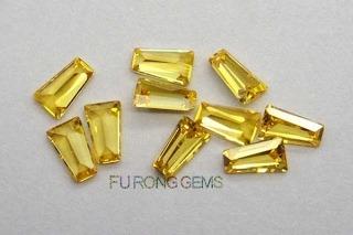 Tapered-Baguette-Cut-Cubic-Zirconia-Golden-Yellow-Gemstones