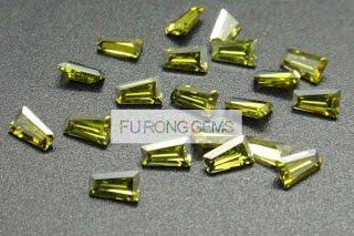 Tapered-Baguette-Cut-Cubic-Zirconia-Peridot-Colored-Gemstones