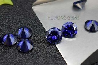Tazanite-Blue-Cubic-Zirconia-Round-Diamond-cut-Gemstones