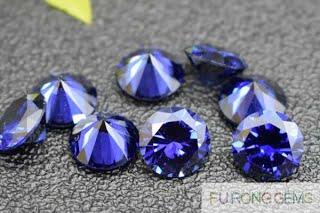 Tazanite-Blue-Cubic-Zirconia-Round-brilliant-Gemstones