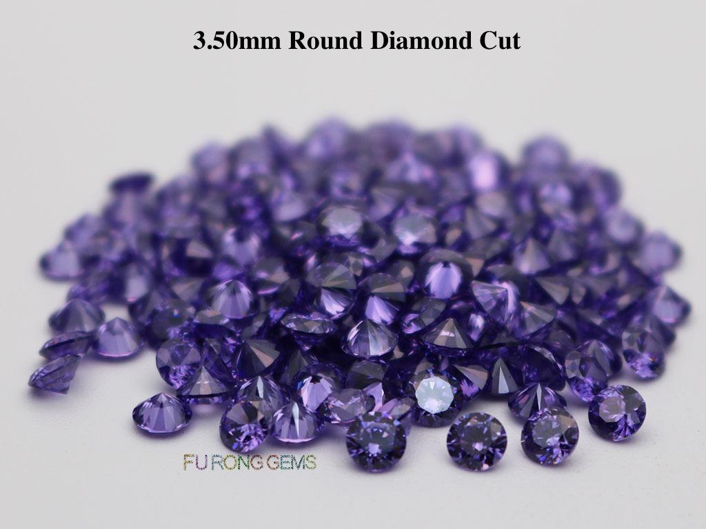 Violet-Purple-Color-Loose-CZ-Round-Diamond-cut-3.5mm-gemstones-for-sale