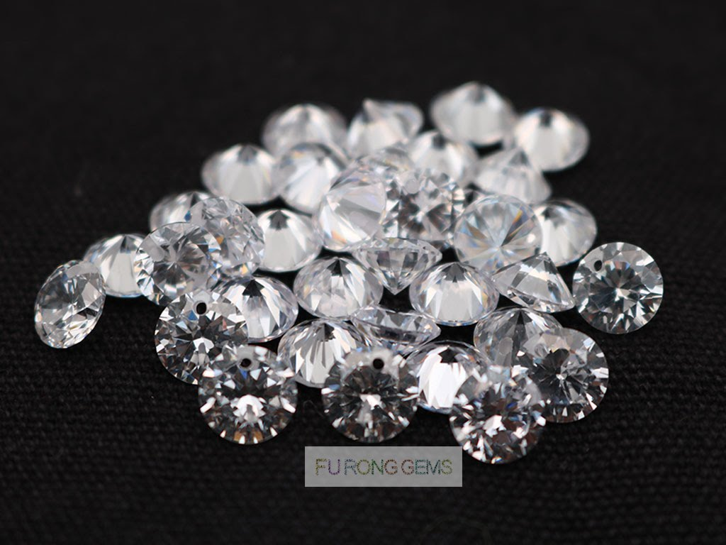 White-CZ-Diamond-Faceted-stone-drilled-holes-for-earings-China-Wholesale